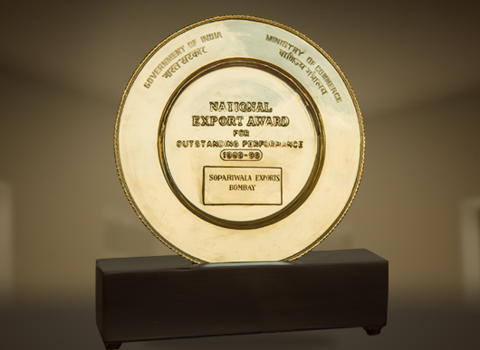 National Export Award for Outstanding Performance 1989-1990